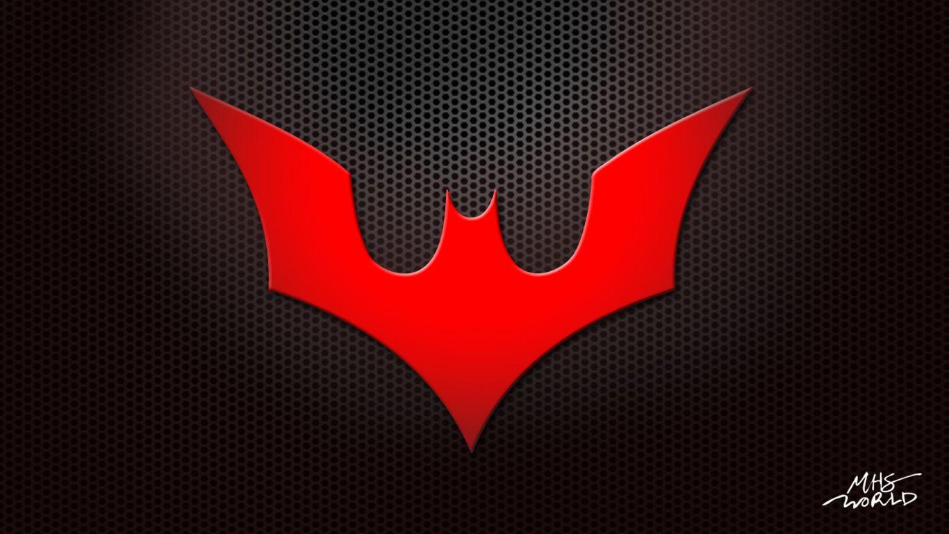 Illustration Photoshop Work Batman Beyond Logo Red Color Photoshop Work Batman Beyond Logo Painting Illustration