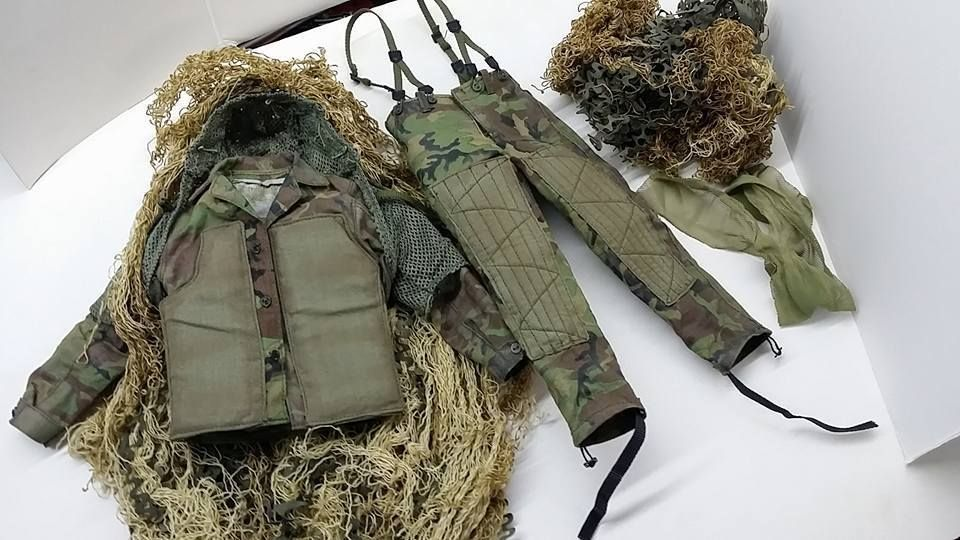 1 6 Scale Dam Toys Marine Corps Scout Sniper Custom Ghillie Suit For 12 Figure