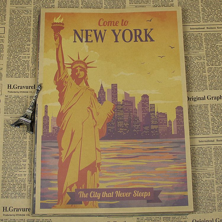 Rome, Moscow, New York, Paris, Statue of Liberty, landscape posters ...