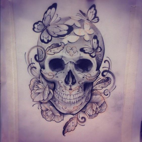 Photo of Image result for beautiful skull tattoos for women