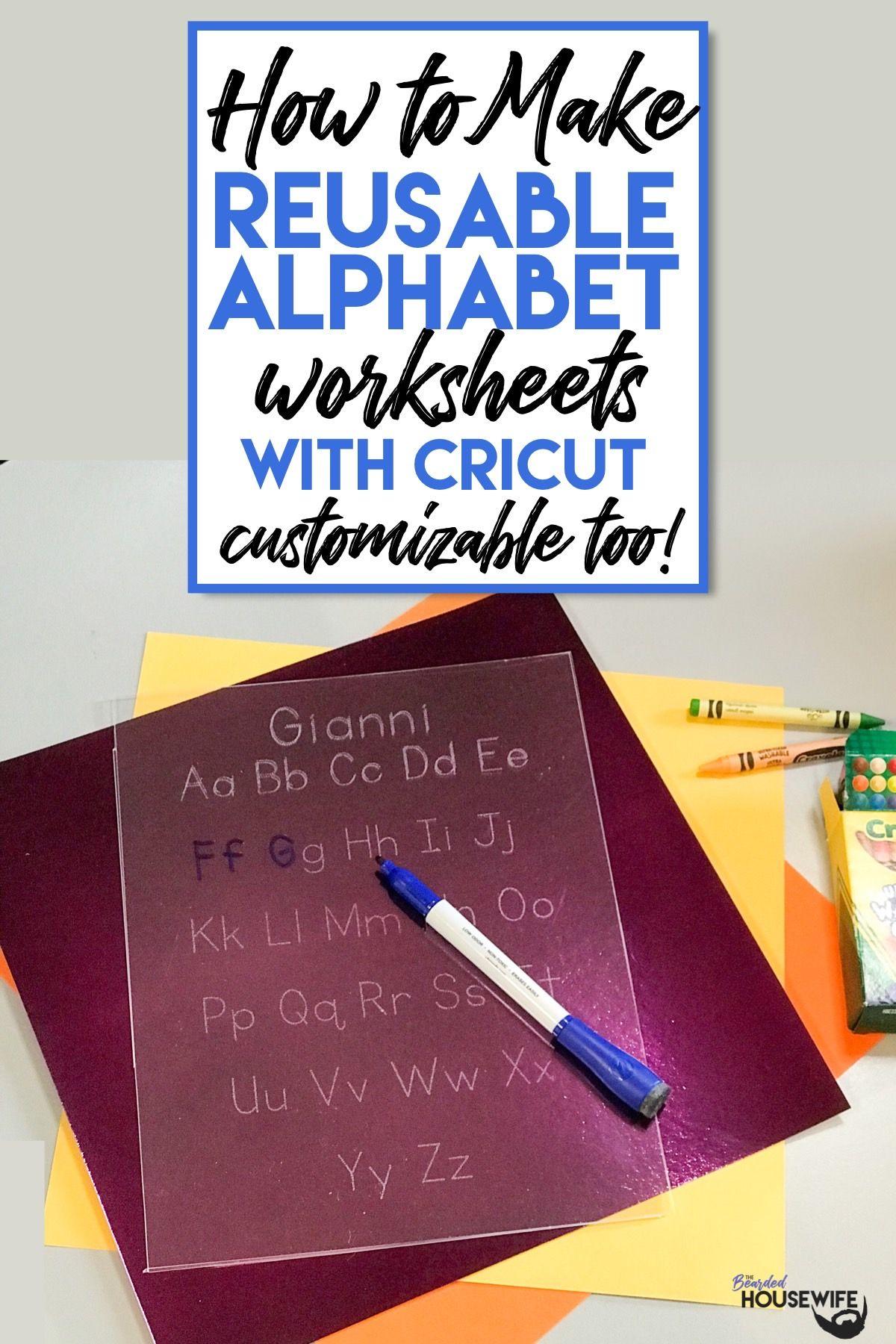 Diy Reusable Alphabet Worksheets In
