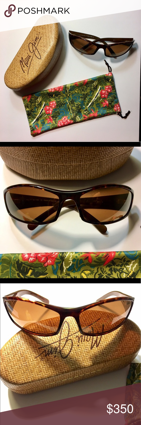 36067787347 The original hard case and microfiber tropical cleaning cloth pouch are  included. Maui Jim Accessories Sunglasses