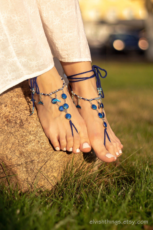 Mermaid jewelry Barefoot sandals boho Foot jewelry Beach