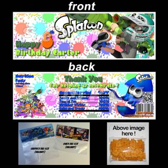 splatoon baggie toppers splatoon birthday invitations and party