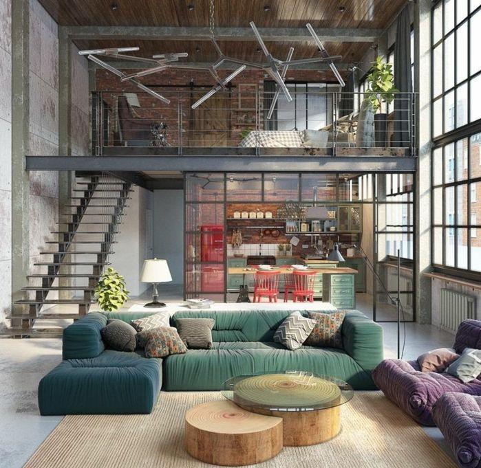 1001 variantes de la d co industrielle avec plusieurs conseils suivre salons. Black Bedroom Furniture Sets. Home Design Ideas