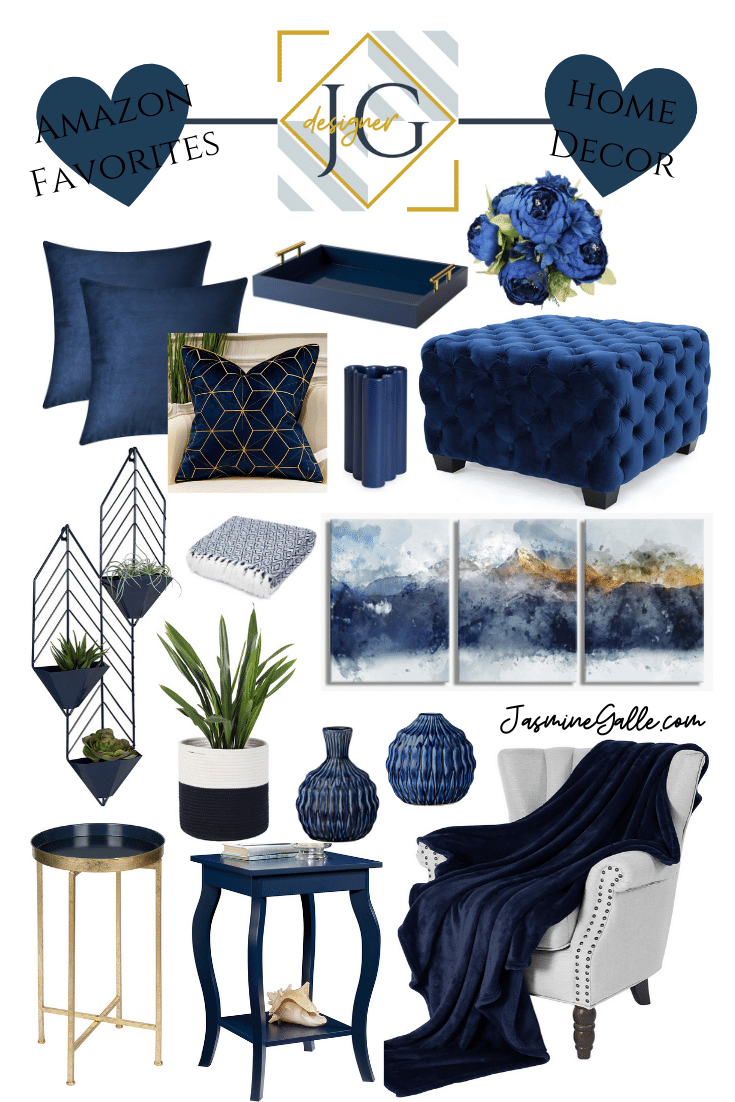 Free online interior design service, shop colorful blue home decor curated by a professional interior designer. Shop amazon home decor favorites today!
