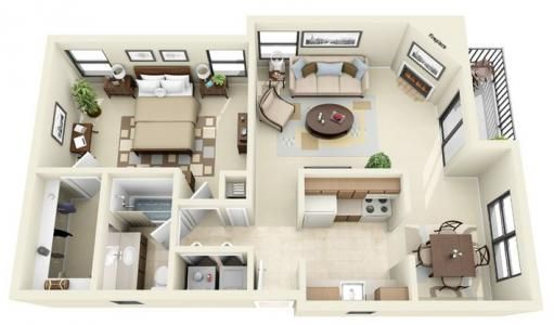 The Rincon Beds 1 Baths 1 Price 819 939 Size 816 Sq Ft Deposit 150 Sims House Design Home Building Design Sims House Plans