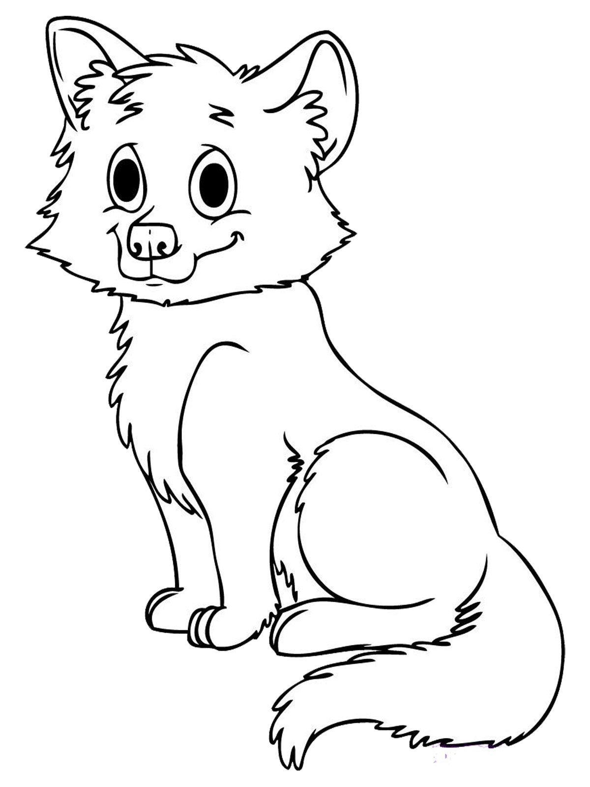 wolf coloring pages for kids   Download all baby animals coloring ...