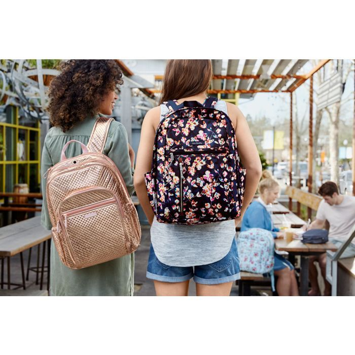 Image of Iconic Campus Backpack in Rose Gold Shimmer Vera Bradley  affiliate c24646244feab