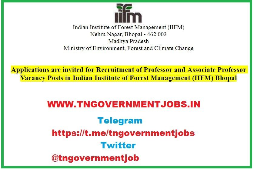 Indian Institute of Forest Management (IIFM) Faculty