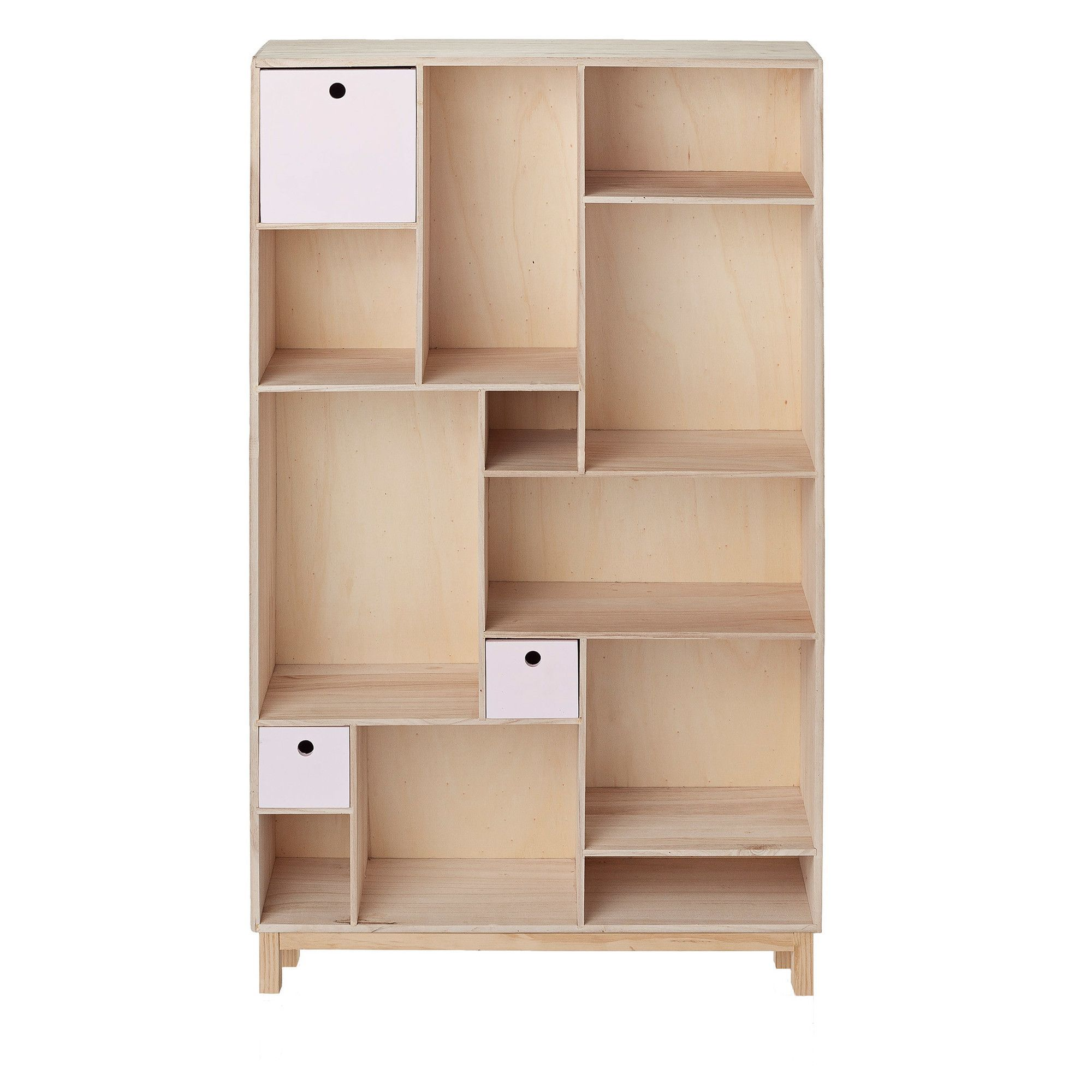 Fresh Wood Storage Cabinets with Doors and Shelves