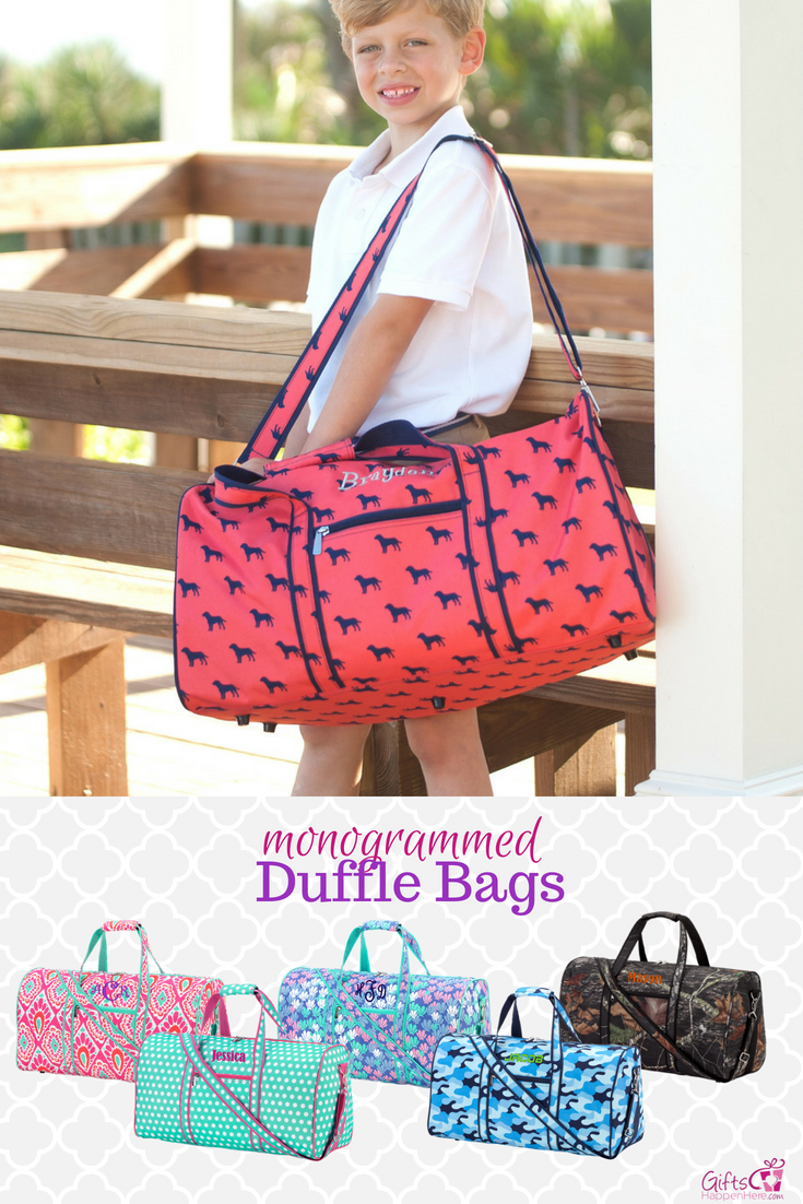 Personalized Large Barrel Duffel Bag Kids Travel Boho