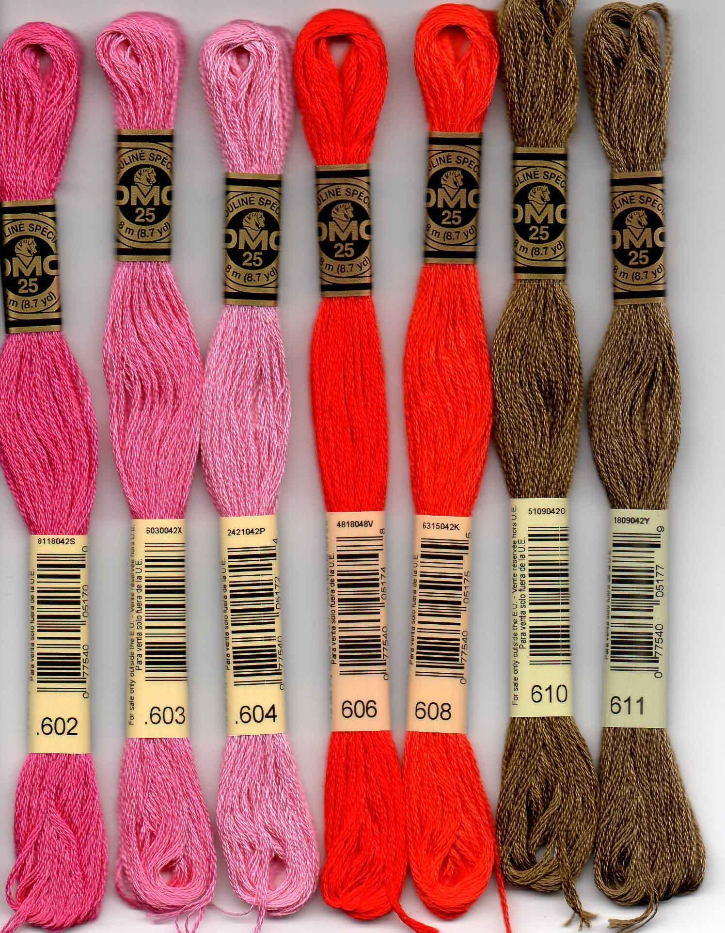 Colour 676 Light Old Gold DMC Stranded Cotton Embroidery Floss