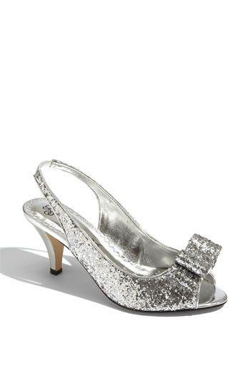 Silver Kitten Heel Bridesmaid shoe | Wedding Ideas | Pinterest ...