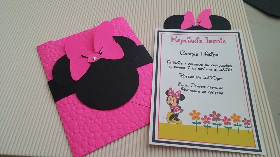 Minnie mouse birthday invitation by JAZCreationsByivette on Etsy