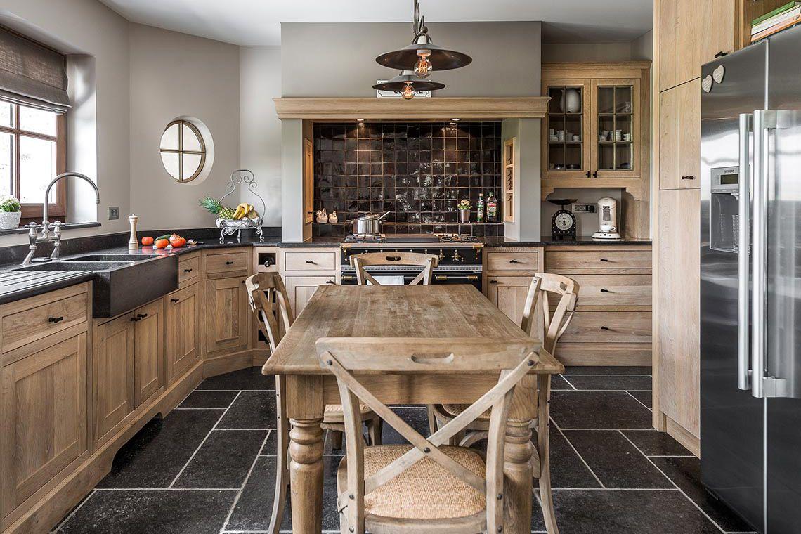Eiken Project Landelijke Keuken Natuurlijke Materialen Luxus Wonen Intérieur De Cuisine Cuisines Maison Cuisine Moderne