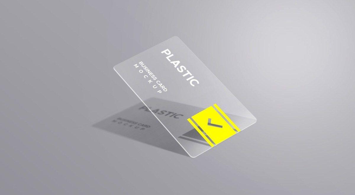Plastic Business Card Mockups Graphicsfuel Plastic Business Cards Business Card Mock Up Hand Drawn Vector Elements