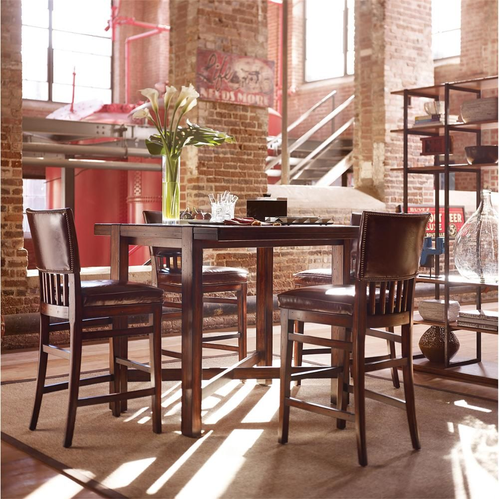 Updated Craftsman Pub Style Dining Table And Chairs Pub Chairs