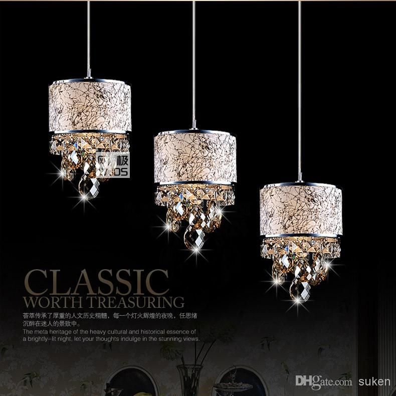 Modern Crystal Chandelier Pendant light Stair Hanging Light luxury ...