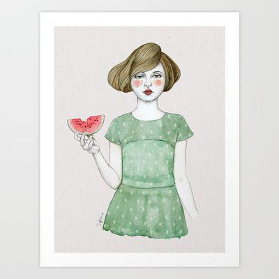 Genevieve Art Print by Sofia Bonati - $17.00