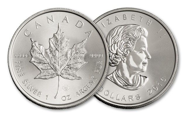 2016 Canada 5 Dollar 1 Oz Silver Maple Leaf Bu Coin Govmint Com Silver Maple Leaf Coins Mint Coins