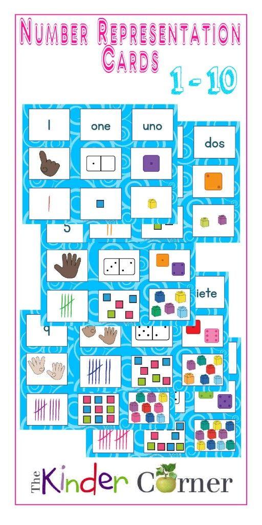 Number Representation Cards | Pre kindergarten, Curriculum and Maths