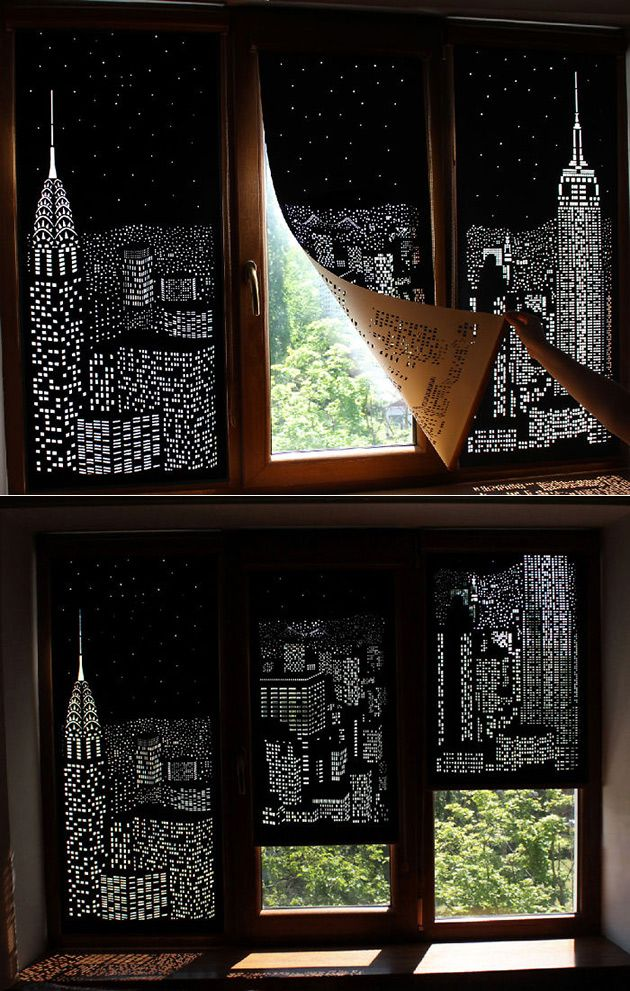 Blackout City Curtains By Holeroll Funny Things Pent House