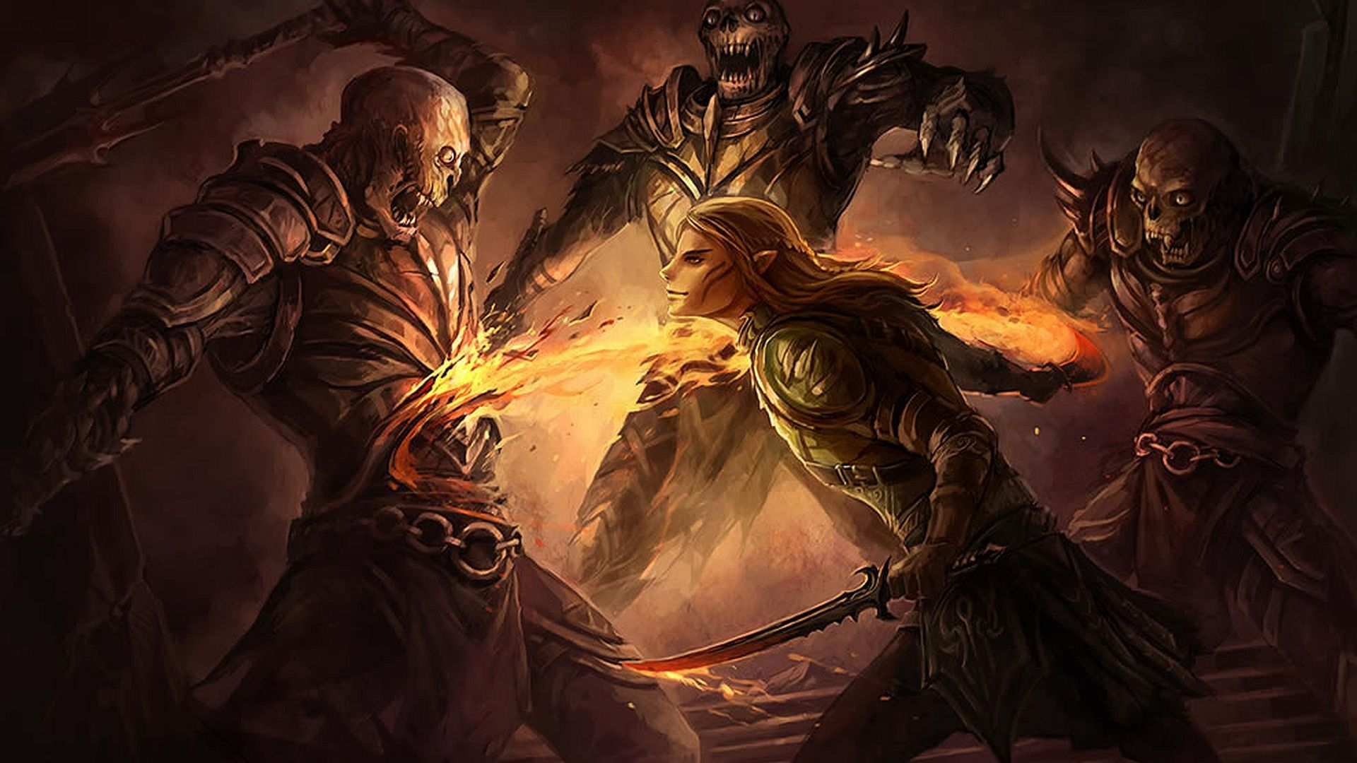 Elemental Warriors Free warrior wallpaper background