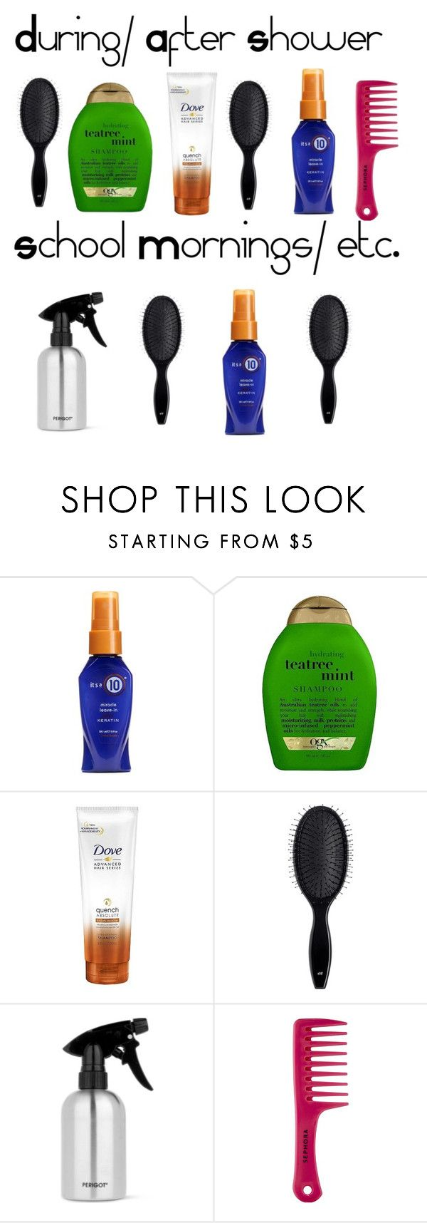 """Hair"" by bvb-army-girl-16 ❤ liked on Polyvore featuring beauty, Organix, H&M, PERIGOT and Sephora Collection"