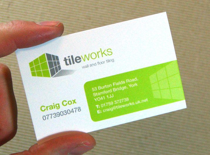 Tileworks business card Leaflets printing Pinterest Business - visiting cards