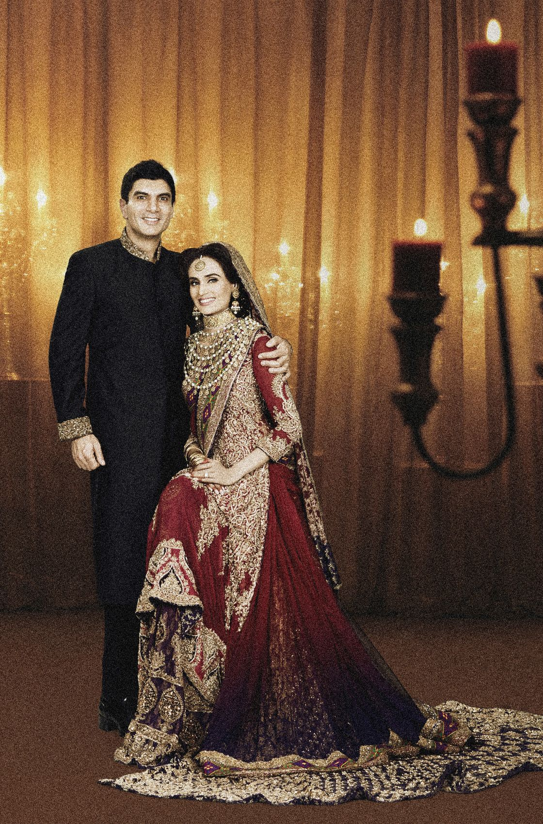 Mehreen Syed dazzling at her Big Day with her husband, Ahmad Shaikh