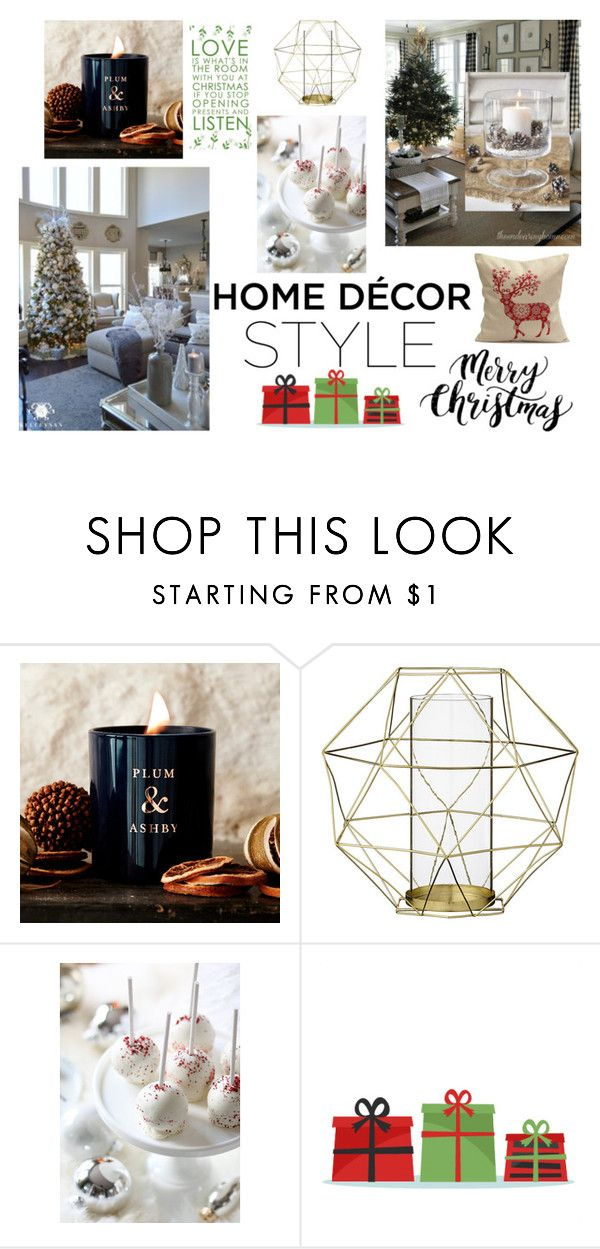 """Deck The Halls"" by bonnie-kate ❤ liked on Polyvore featuring interior, interiors, interior design, home, home decor, interior decorating, Plum & Ashby, Bloomingville, HolidayParty and deckthehalls"