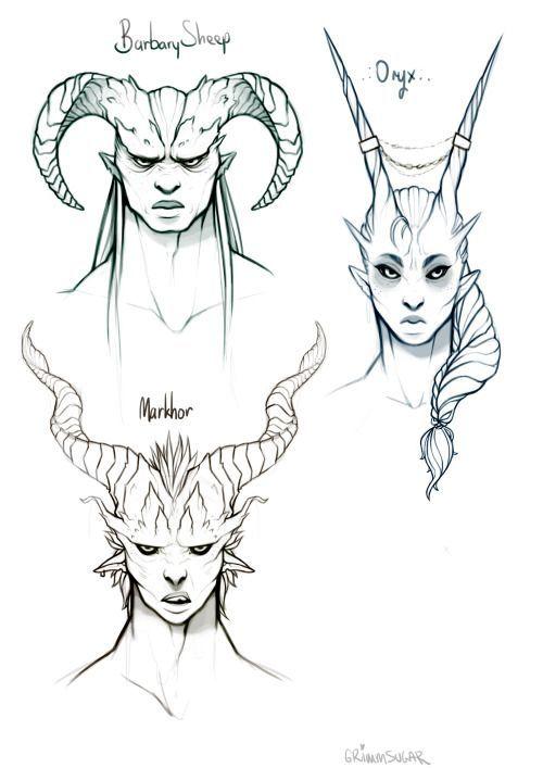 Image result for fantasy horns curved | RPG | Pinterest