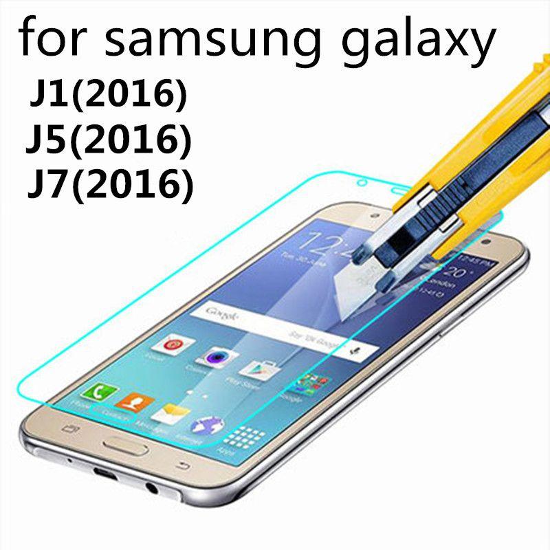 강화 유리 samsung galaxy j1 j5 j7 (2016) j120f j510f j710f 화면 보호기 보호 스크린 필름