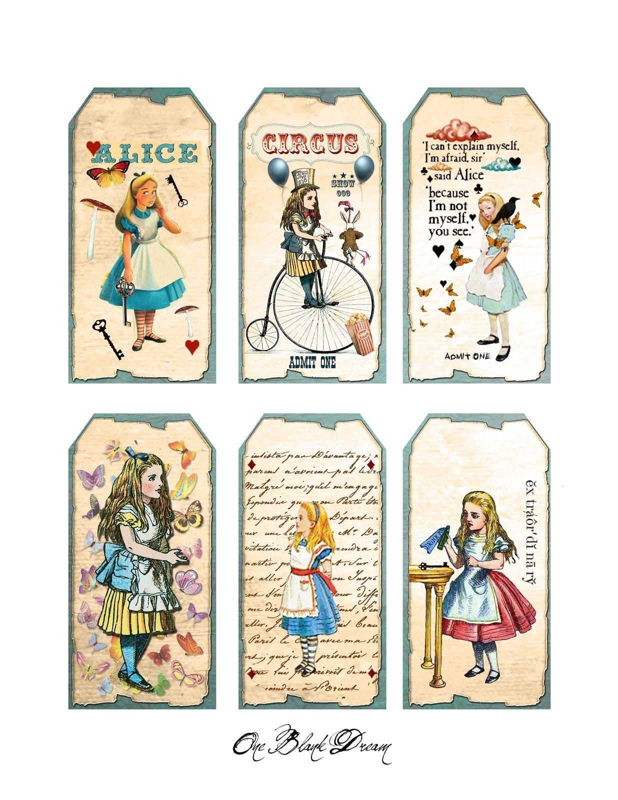 Free Alice In Wonderland Cutouts