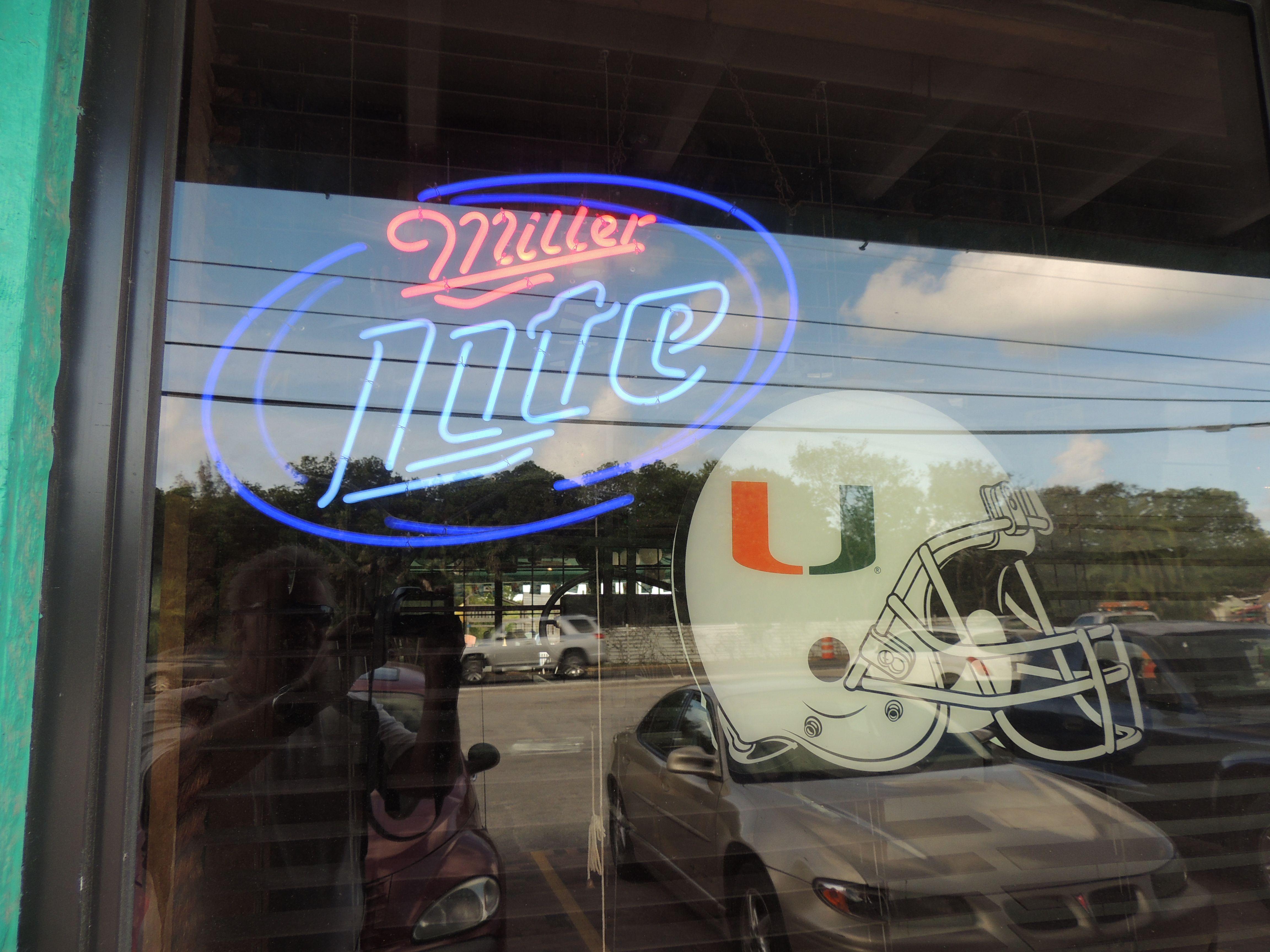 Neon Beer Sign . Florida U Miller Lite College