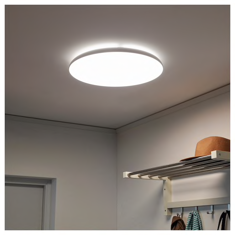 Nymane Led Ceiling Lamp White Ikea In 2020 Ceiling Lamp White Ceiling Lamp Led Ceiling Lamp