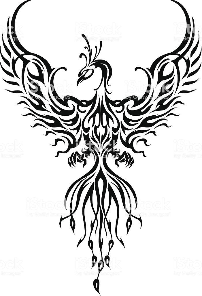 Fictional Fiery Bird Phoenix In Abstract Flame Phoenix Tattoo Phoenix Bird Tattoos Tribal Phoenix Tattoo