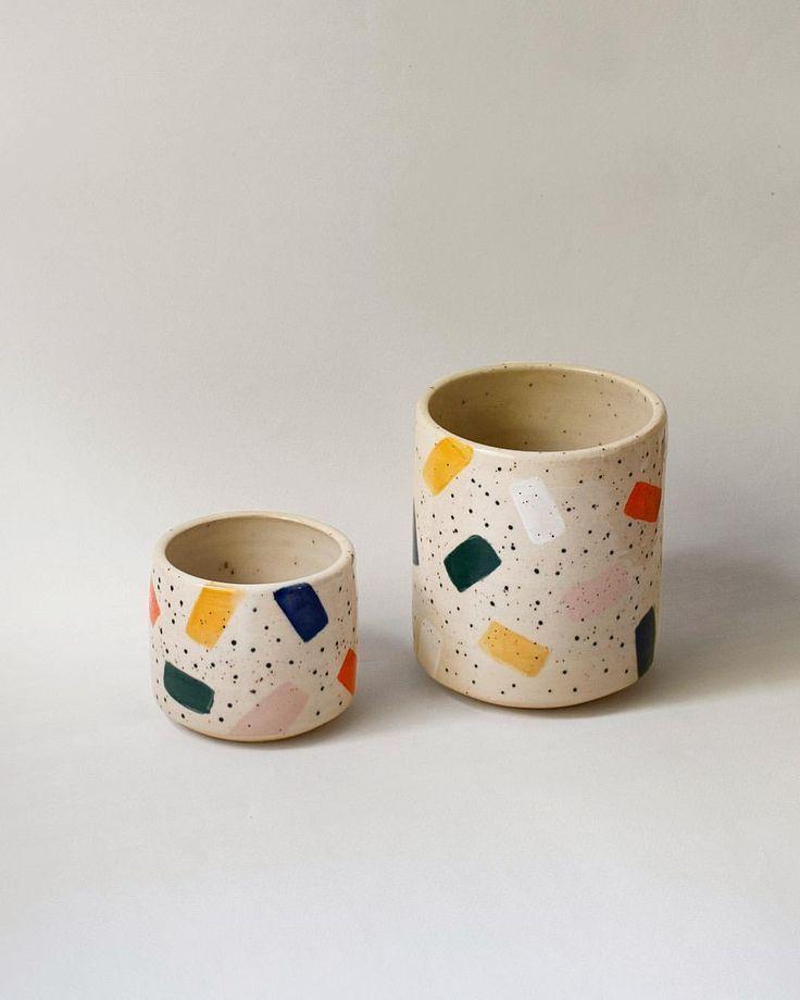 "Willowvane on Instagram: ""Pattern 007"" #ceramiccafe ceramic cups and art"