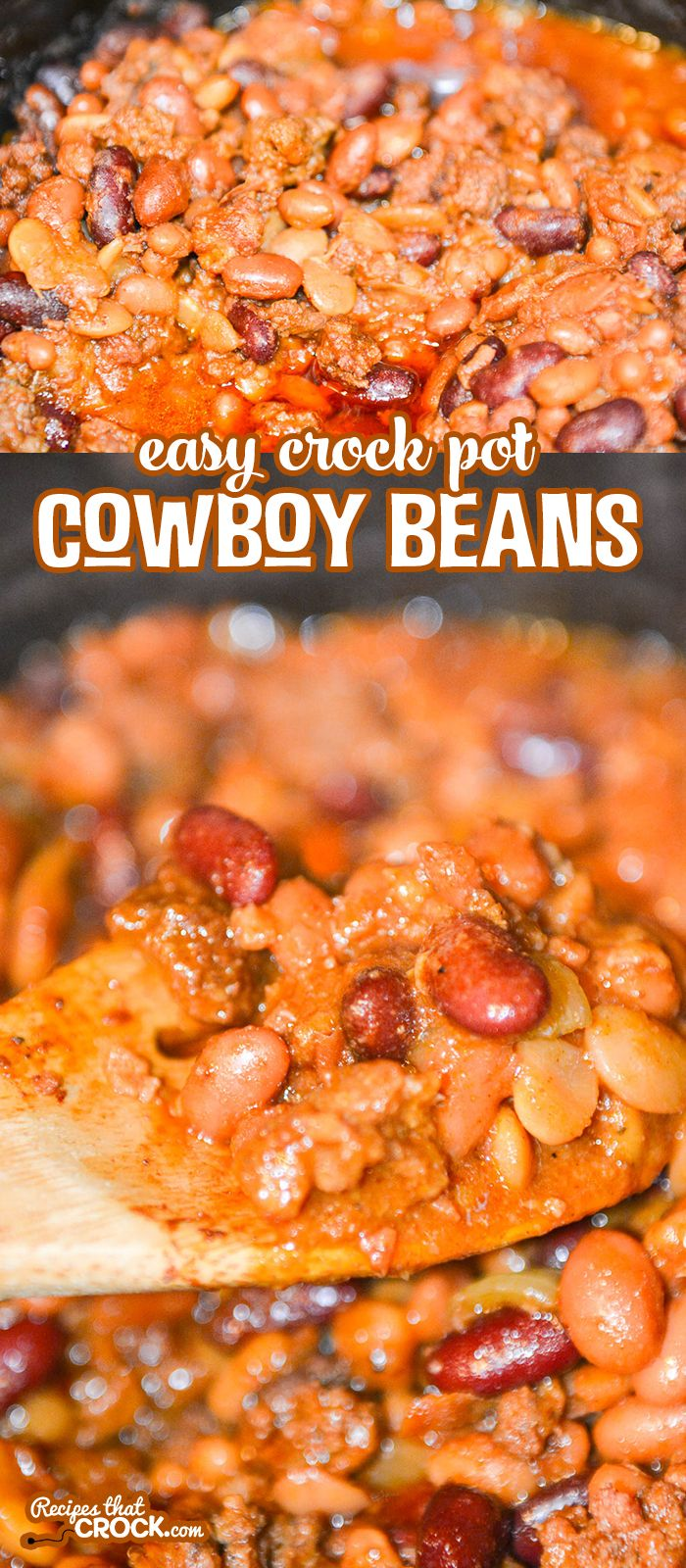 These Easy Crock Pot Cowboy Beans Are Fantastic As A Flavorful Side