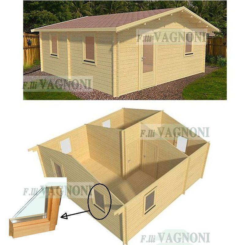 Casetta Casa In Di Legno Cm 600x800 48 Mq 3 Vani Pareti 45mm