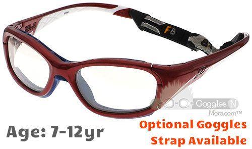 72e855ea44 Rec Specs F8 Slam Patriot Prescription Sports Glasses in Shiny Crimson