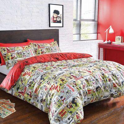 The Beano Dennis Menace Gnasher Bedding Quilt Duvet Curtains Cushions