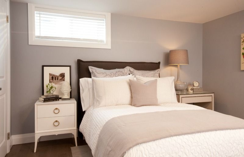 bright and airy basement bedroom incomeproperty hgtv - Decorating A Basement Bedroom