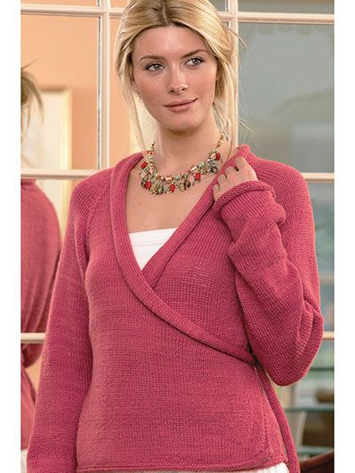 Knitting Pattern for Crossover Cardigan ad Two sweater
