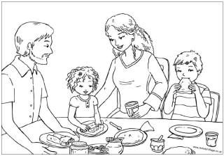 Children Eating Coloring Pages Google Search Coloring Pages Pancake Day Colouring Pages Colouring Pages