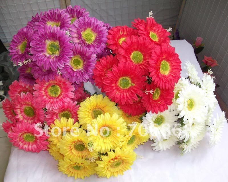 Gerbera daisy wedding bouquet cost ideas and tips for our wedding gerbera daisy bouquet cream silk flowers artificial bush wedding bouquet wedding amp home decoration ems freeshipping decorative mightylinksfo Images