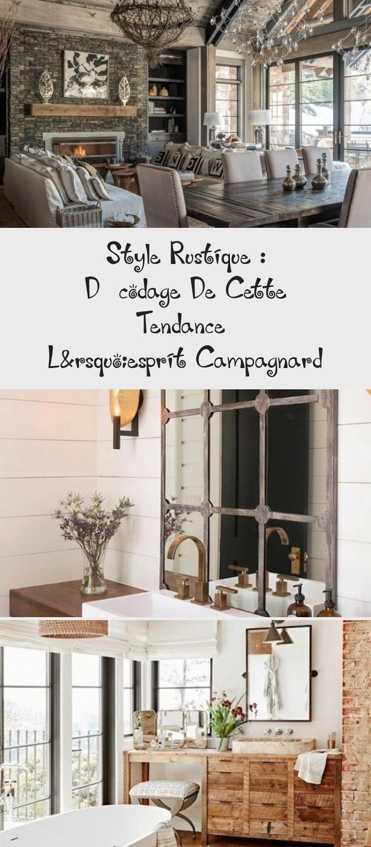 Idee Deco Suspension Salon style rustique decoration salon blanc bois brut poutre bois