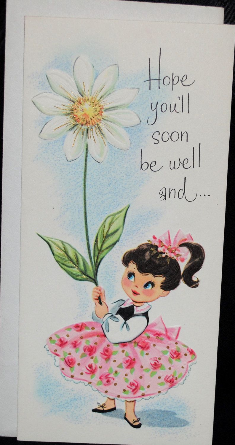 Vintage A Get Well Soon Greeting Greetings Such Pinterest