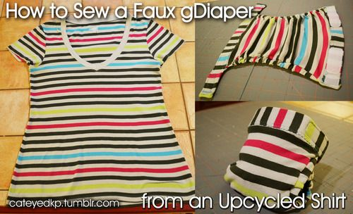 A very photo-heavy guide to sewing a faux gDiaper cover from an ...